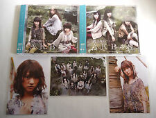 AKB48 Kaze wa ha Fuiteiru JAPAN CD + DVD L/E lot of 2 Ver Type A+B w/OBI & Photo