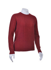 New Zealand Possum Fur Merino Wool Crew Neck Jumper Sweater with Lace Detail