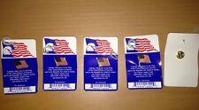 5 US Flag Lapel Pins United States Of America Patriotic
