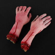 1pc Horrible Bloody Fake Rubber Gory Severed Body Part Hand Arm Halloween Prop