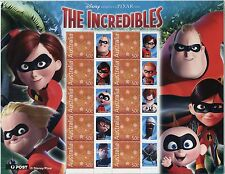 Disney Pixar THE INCREDIBILES - Special Events Sheetlet
