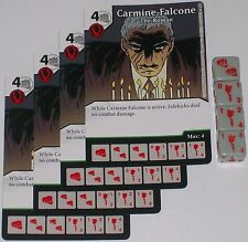 4 X CARMINE FALCONE THE ROMAN 82 World's Finest DC Dice Masters