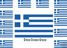 Assortiment lot de10 autocollants Vinyle stickers drapeau Grèce-Greece-Grecia