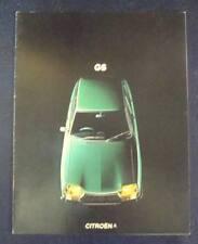 CITROEN GS le vendite di automobili opuscolo SEP 1973 include Saloon & Estate #ang. D