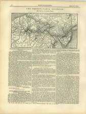 1877 Death Of Thomas Page, Engineer, Local Map Pennsylvania Railroad