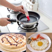 Rund Silikon Öl Gefäß Barbecue Torte Wurst Brot Back ölig Machen Pinsel Werkzeug
