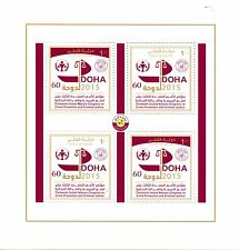 Qatar 2015 MNH 13th UN Congress Crime Prevention & Criminal Justice 4v M/S Doha
