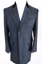 $4840 NWT TOM FORD Coat Overcoat Topcoat with Velvet Collar Small 48 EU 38 US