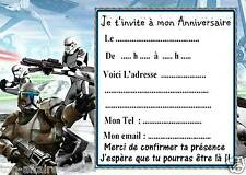 5 cartes invitation anniversaire star wars 010 dautres en