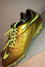 Nike Hypervenom Phelon FG Soccer Cleats 9.5 -Metallic Gold- Neymar  677585-907