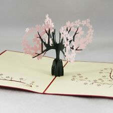 3D Foldable Greeting Card Invitations Tree Thanksgiving Christmas Party Gift