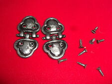 """Vintage 2""""  Antiqued Silver Decorative Hinge - 2 with Matching Screws"""