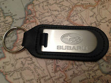 Subaru Key Ring Blind Etched On Leather Impreza Legacy Xv Forester Outback STI