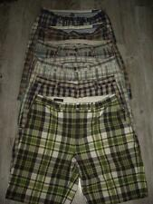 Lot of 6 Pair Plaid Shorts Flat Front Style Zip Fly RL Polo Penguin Mens Size 36