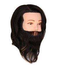 *USA SELLER* 100% HUMAN Hair Handsome Man Male Cosmetology Mannequin Head oo