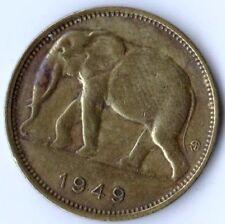 *RARE* BELGIAN CONGO, Vintage 1949  1 FRANC COIN, Very Fine Circulated NICE COIN