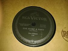 DON GIBSON : GIVE MYSELF A PARTY / LOOK WHO'S BLUE.  Canada.78rpm (1958)