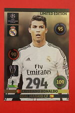 ADRENALYN CHAMPIONS LEAGUE 2014/15 LIMITED EDITION XXL RONALDO REAL MADRID!!