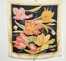 Salvatore Ferragamo Scarf Silk Tropical Floral Designer Foulard Sciarpa With Tag