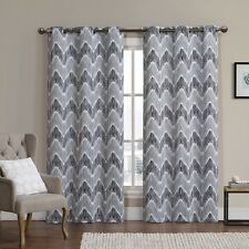 Marlie Woven Jacquard Insulated Blackout Casual and Contemporary Curtain (Pair)