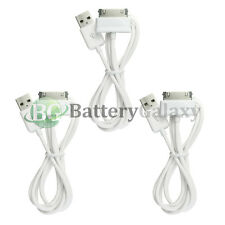 """3 White USB Sync Battery Charger Cable for Samsung Galaxy Tab Tablet 2 Plus 7.0"""""""