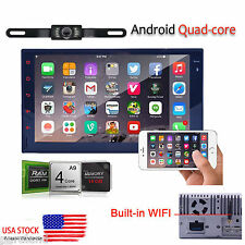 "7"" Quad Core Android GPS Double 2din Car Stereo Radio 3G WiFi Bluetooth BT USB"
