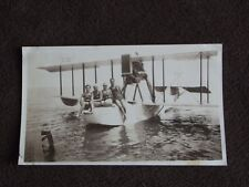 VTG 1930's PHOTO: MEN & WOMEN SWIMMERS SITTING ON FRONT OF A SEA PLANE