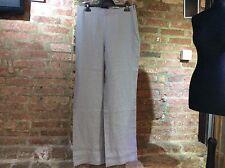 John Lewis Capsule Collection wide leg 100% linen trousers ZINC-Grey UK 12