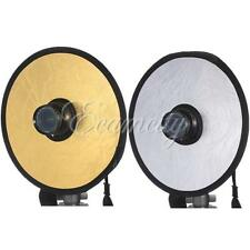 "PRO 12"" Reflector Photography Photo Disc 2in1 Studio Light Multi Folding Hollow"