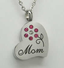 MOM CREMATION JEWELRY MOM URN NECKLACE CREMATION URN MOTHER MEMORIAL PENDANT