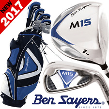 """NEW 2017"" BEN SAYERS M15 MENS +1"" LONGER COMPLETE GOLF SET IRONS WOODS PUTTER"