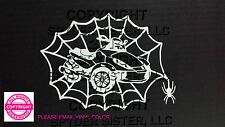 CAN-AM SPYDER RS- WEB WITH SPIDER WINDOW DECAL/STICKER - 13 COLORS