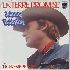 CD 2 titres JOHNNY HALLYDAY ***  LA TERRE PROMISE ** LA PREMIERE FOIS n°150