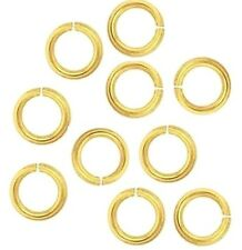 18 Ga Solid Brass  10 MM O/D Jump Ring  150 P. 1 Oz Pkg. Saw-Cut  Made In USA