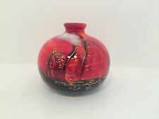 Anita Harris Potteries Past Marakesh Vase 10cm Tall - UK Hand Painted Pottery