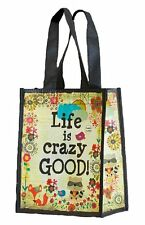 Recycled Med. Shopping  Gift Bag LIFE IS CRAZY GOOD! REUSABLE Natural Lif