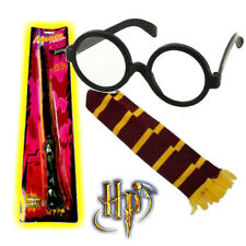Mens Womens Harry Potter Wizard Kit Deluxe Wand Witch Fancy Dress Glasses Scarf