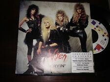 "VIXEN - SPANISH 7"" SINGLE SPAIN CRYIN' HARD ROCK + TOUR STICKER"