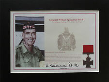 SERGEANT BILL SPEAKMAN-PITT VC Signed 14x11 Print Display VICTORIA CROSS COA