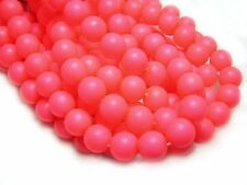 10mm Coral Orange Neon Czech Glass Round Beads (25) #5159