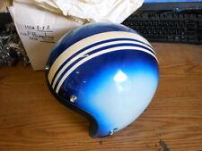 NOS NEW Shoei Vintage Open Face Helmet Large D-3A Blue Pearl w Stripe 1968 Snell