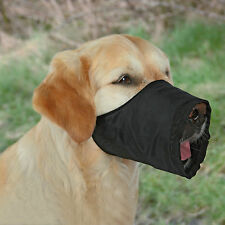 Black Dog Muzzle with Fleece Lining for Extra Small to Small Dogs XS-S