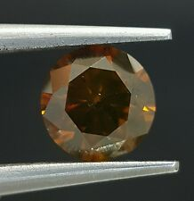 Red Cognac Orangish Natural Diamond Loose Sparkling 0.62 Carat Wholesale Price