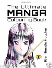 Ultimate Manga Adult Colouring Book Anime Japanese Portraits Art Creative Gift