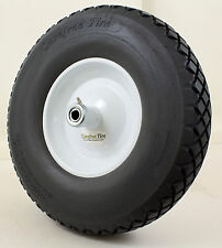 "4.80X4.00-8 KwikFix Care Free Flat Free Wheelbarrow Diamond Tread Tire 5/8"" CH"