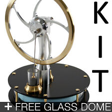 KONTAX Black Ultra Low Temperature Stirling Engine KIT + FREE Glass Dome