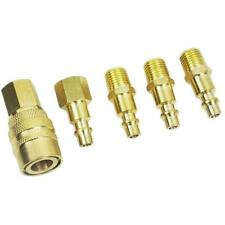 5 PC BRASS QUICK COUPLER CONNECTOR SET AIR HOSE LINE COMPRESSOR CONNECTION