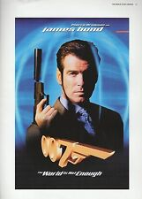 "2002 Vintage JAMES BOND ""THE WORLD IS NOT ENOUGH"" USA MINI POSTER ART Lithograph"