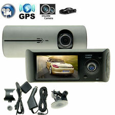 GPS Dualkamera, 2,7LCD HD Dashcam 2 Linsen Autokamera  Car DVR Blackbox G-Sensor
