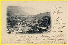 """cpa ALSACE """" SOUVENIR de SAINT AMARIN """" Gruss aus Circulée en 1899"""